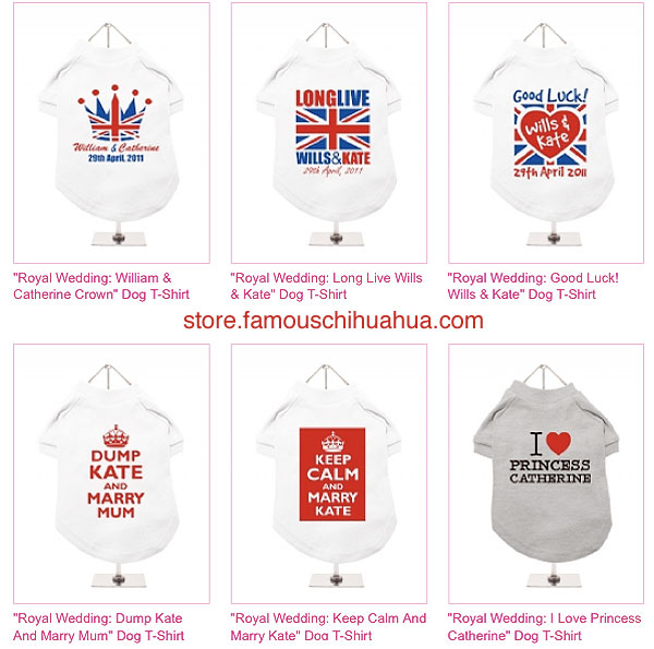 shop for royal wedding pet souvenirs!