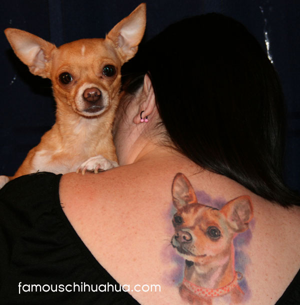 chiquita the chihuahua tattoo!