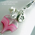 dog paw heart attachable pendant