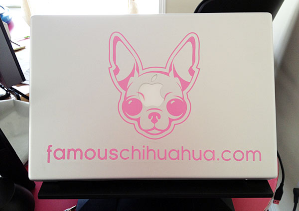 famous chihuahua lap top decal!