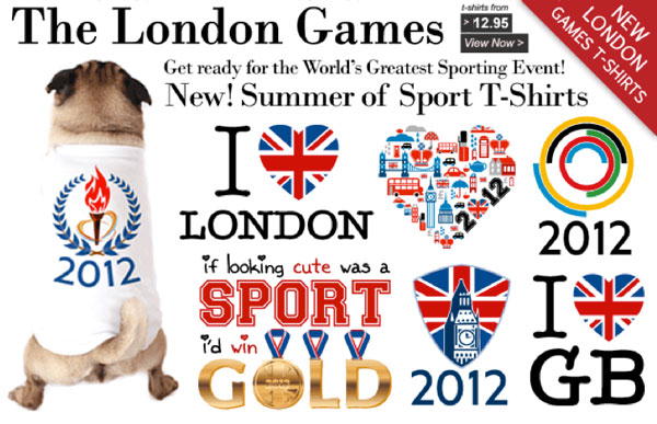london 2012 olympic games dog shirts at the famous chihuahua store!