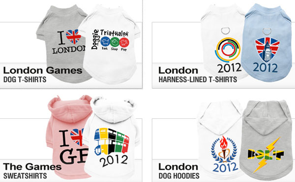 click here to view our fabulous selection of olympic games dog shirts!