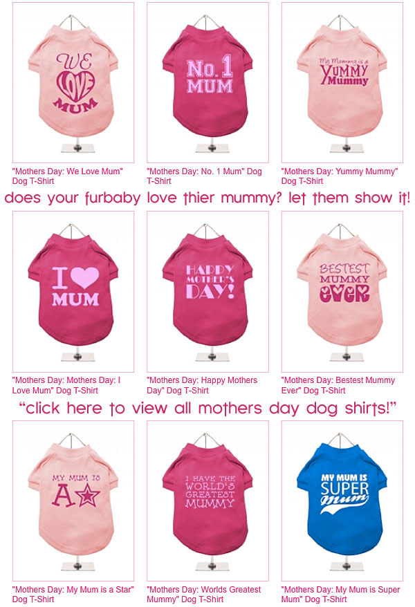 mothers day dog shirts