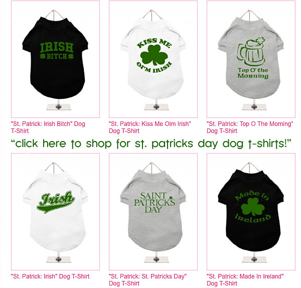 st. patricks day dog t-shirts