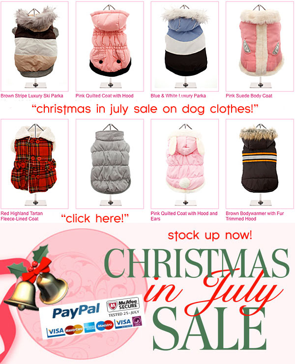 christmas in july sale on dog clothes