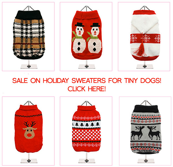 sale holiday christmas dog sweaters