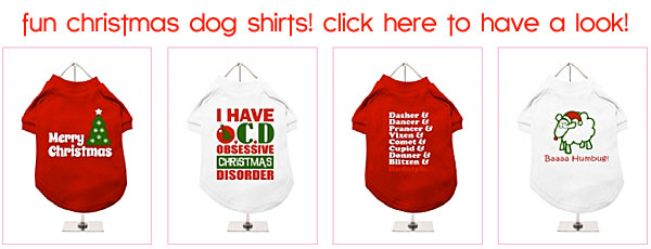 christmas dog t-shirts