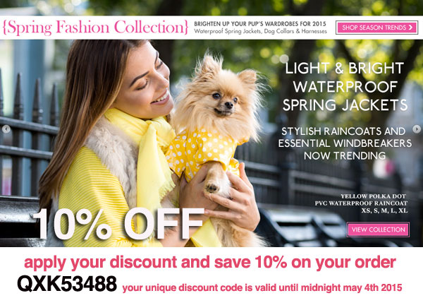 sale on spring dog clothes