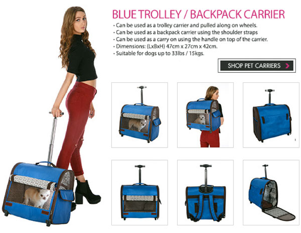 travel pet trolley back pack pet carrier