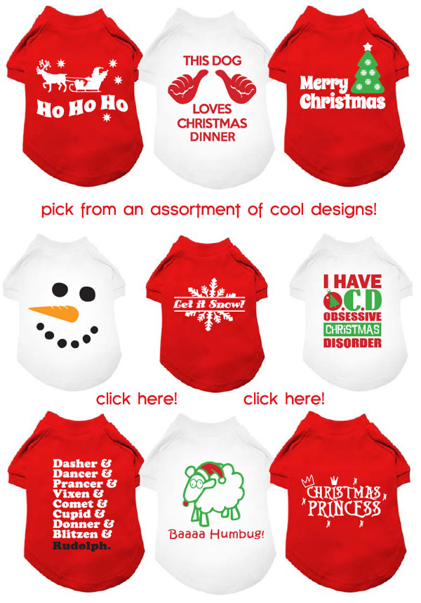 design your own christmas dog t-shirts! your pup will be the life of ...