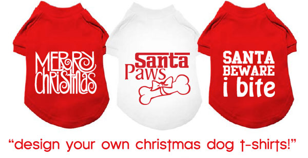 design christmas dog shirts