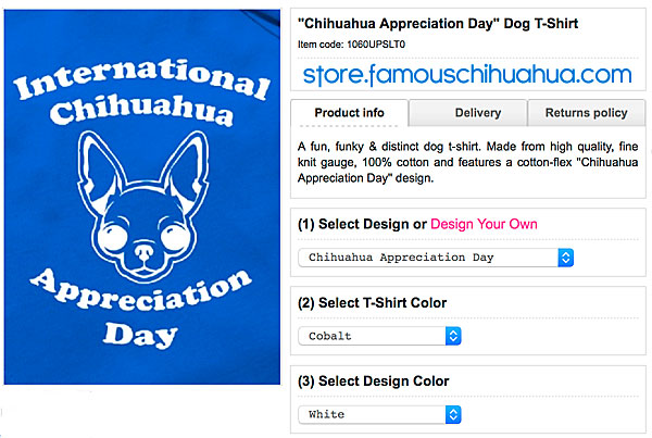 chihuahua appreciation day dog shirt