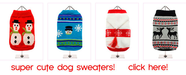knit dog sweaters christmas holiday