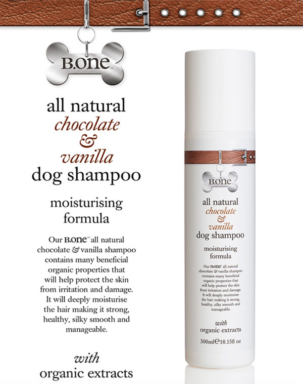 all natural chocolate and vanilla dog shampoo