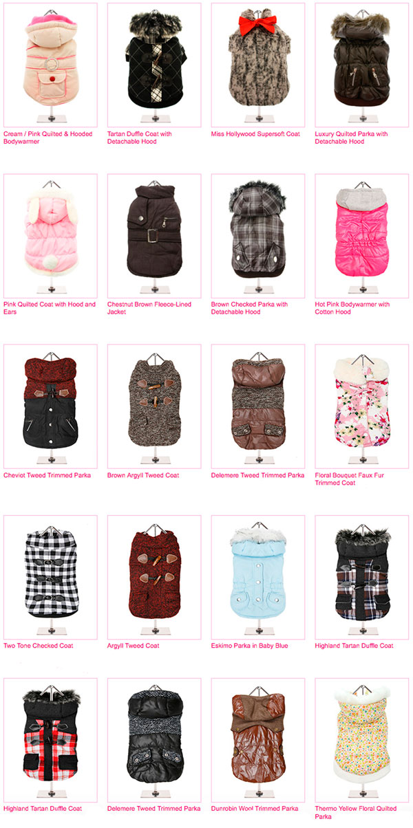 january sale! 50% off select winter dog coats and sweaters!