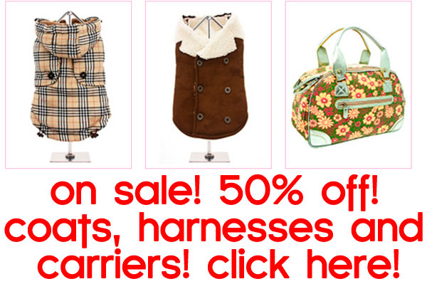 sale on dog coats jackets harnesses and pet carriers