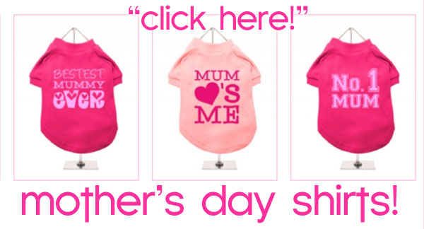mothers day dog t-shirts