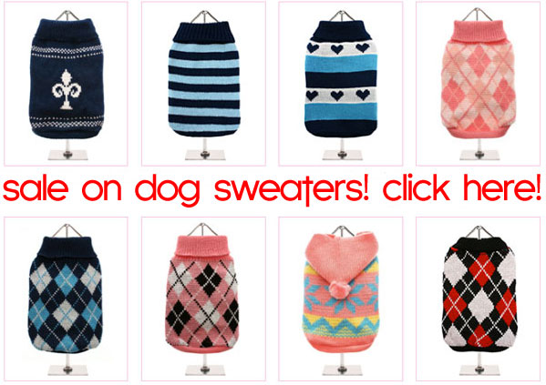 sale knitted spring dog sweaters