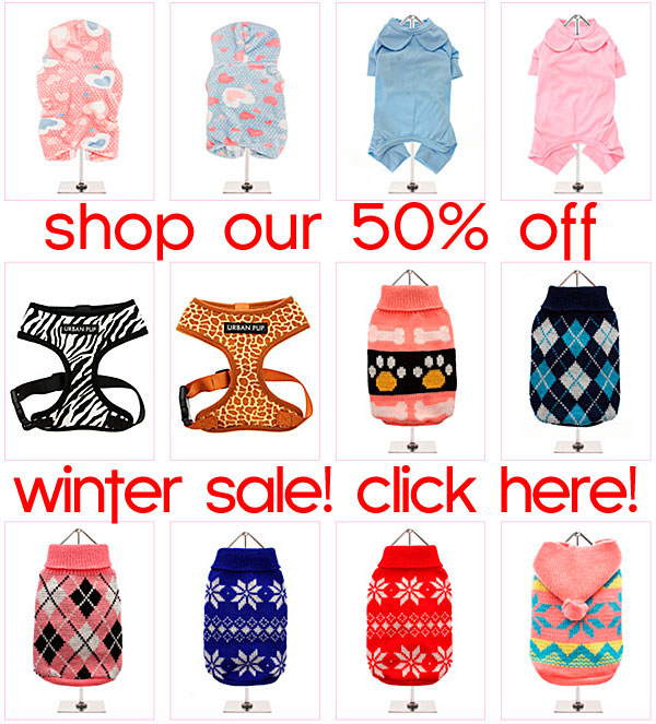 winter sale on chihuahua clothes