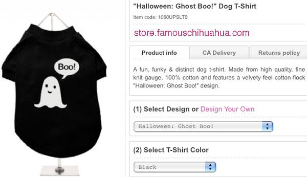 the halloween boo dog t-shirt!