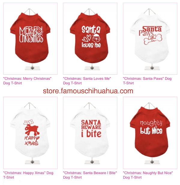 shop for the perfect christmas dog shirt for your chihuahua!