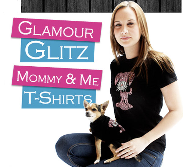 walk the streets in style with your pooch wearing a fabulous matching mommy and me t-shirt set!