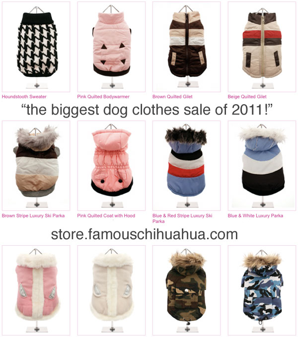 it's the biggest dog clothes sale of the year! shop now!