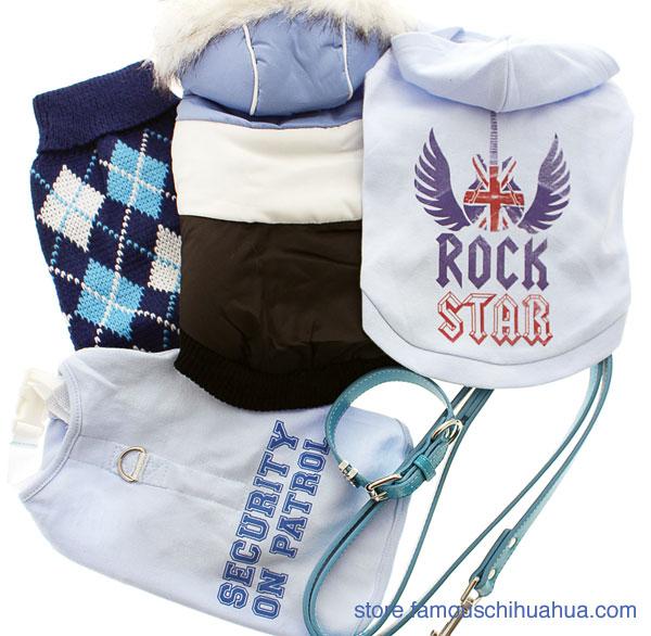 pampered boy dog clothes gift box set