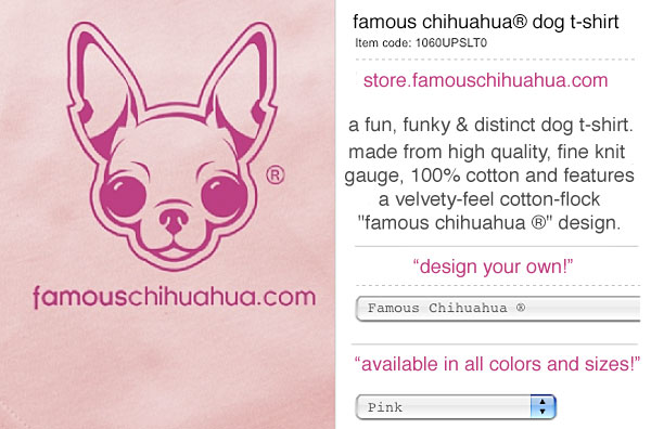 make your chihuahua famous with a famous chihuahua dog t-shirt