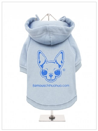order a famous chihuahua fleece dog hoodie