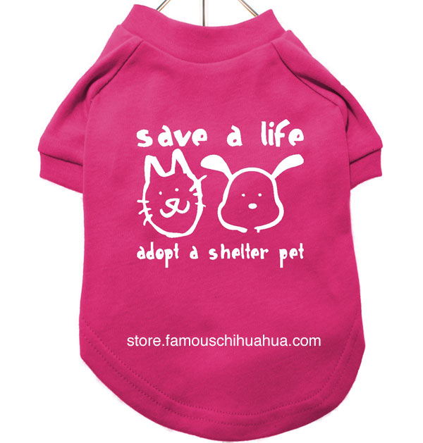 spread the word with a save a life, adopt a shelter pet dog shirt