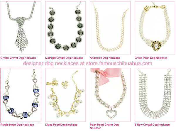 shop for designer dog necklaces!