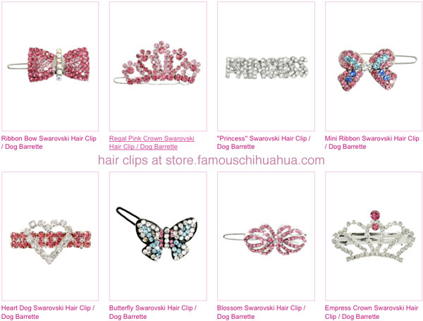 shop for fabulous dog hair clips!