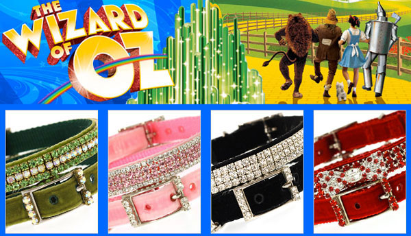 make your pooch a superstar with a fabulous wizard of oz dog collar!