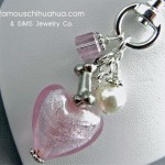 dog bone heart attachable pendant