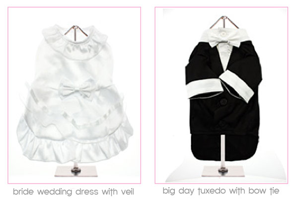 click here to shop for dog wedding apparel!