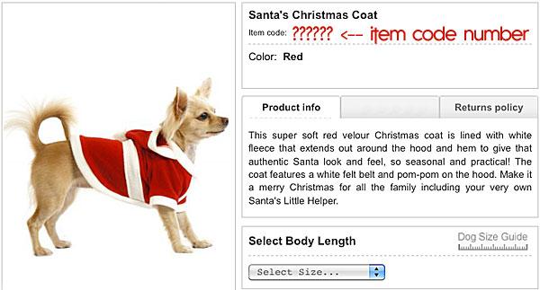 santa's dog coat outfit