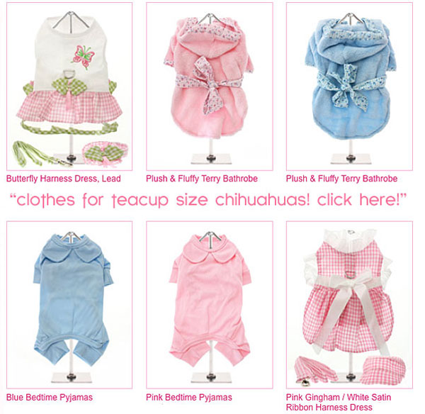 xs clothes for teacup chihuahuas