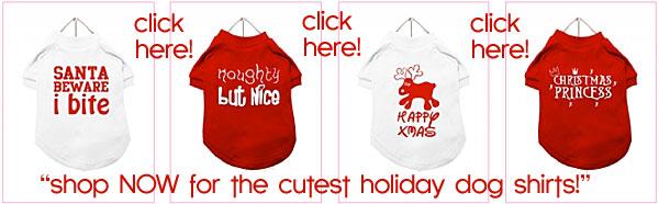 holiday dog shirts