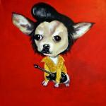 elvis presley chihuahua portrait