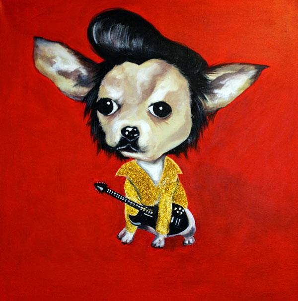 elvis chihuahua portrait
