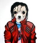 michael jackson chihuahua portrait