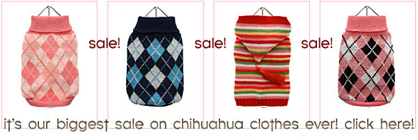 sale chihuahua clothes