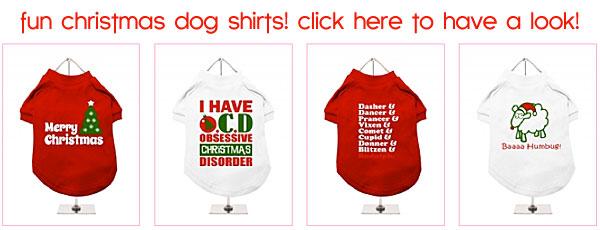 christmas dog t-shirts