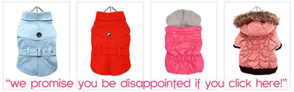 girl dog fashions coats