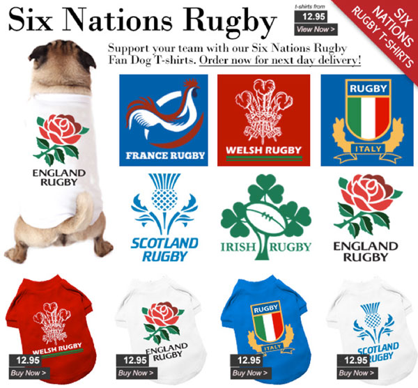 rugby dog t-shirts