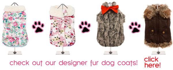 designer fur dog coats sale
