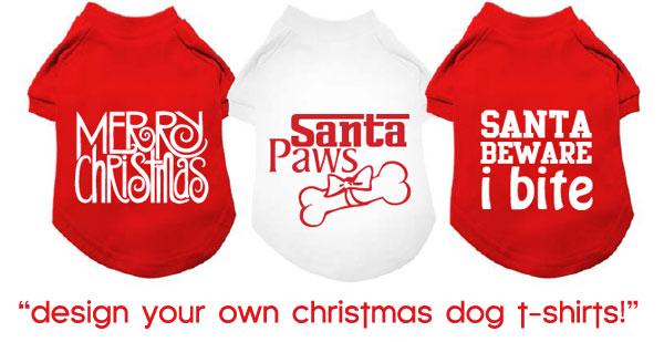 design christmas dog shirts