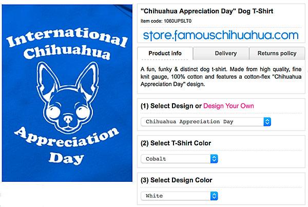 chihuahua appreciation day dog shirt