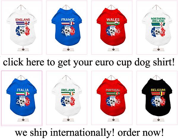 eurocup france 2016 dog shirts